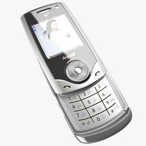 3d cellular phone samsung model