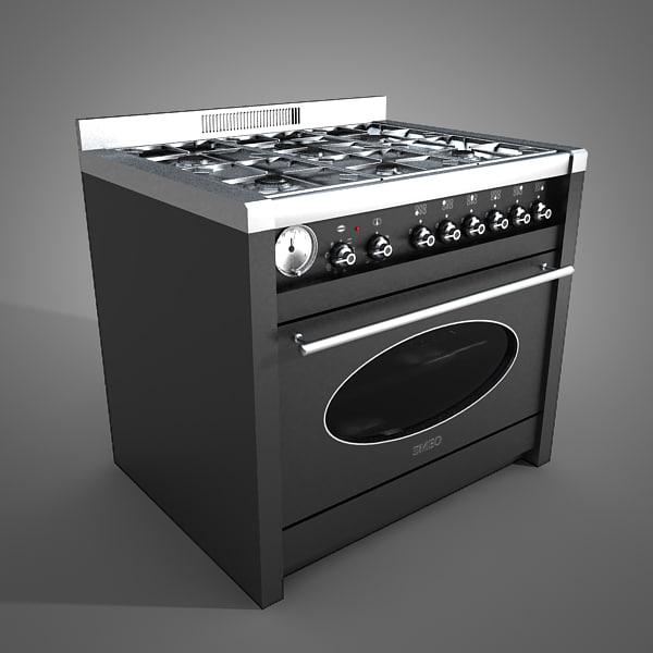 kitchen oven 3d obj
