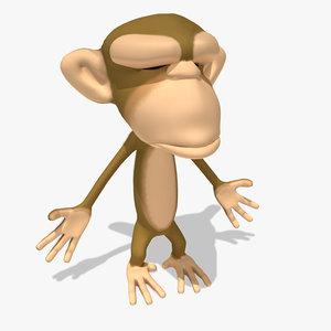 3d toon monkey