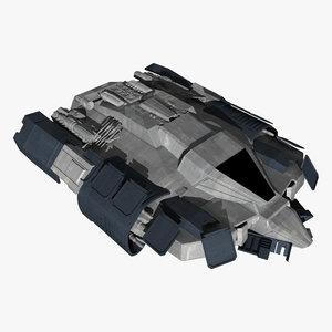 sci-fi space speeder 3ds
