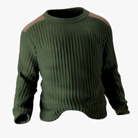 max man s sweater military