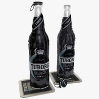 3ds max bottles tuborg black beer
