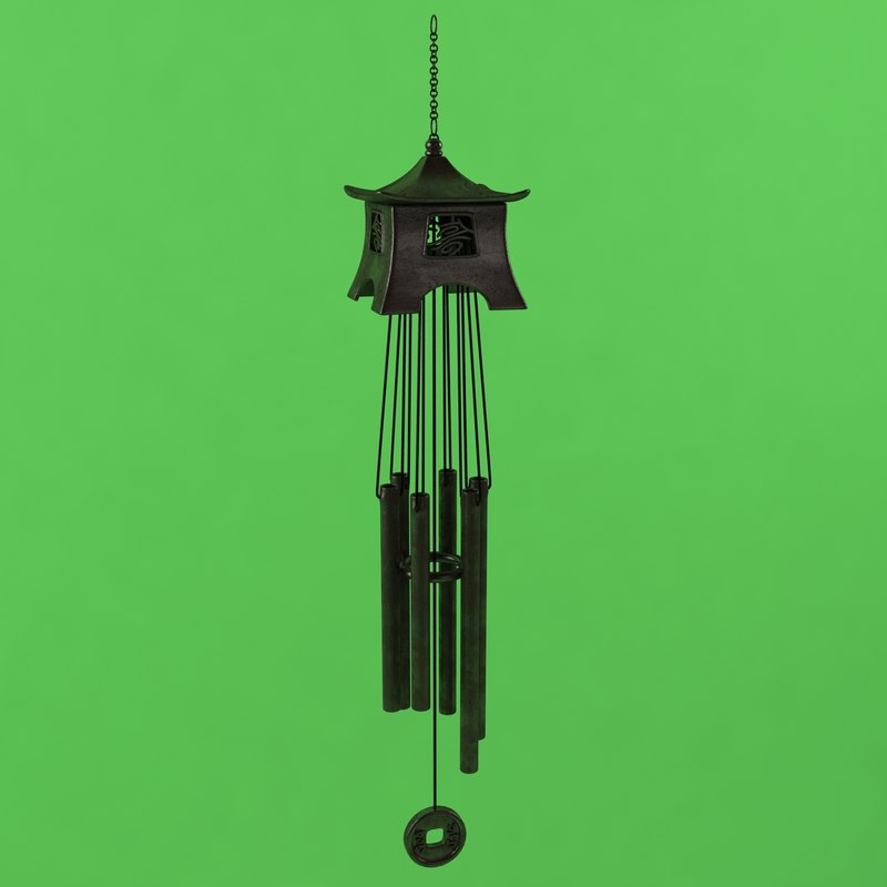 3ds max wind chime