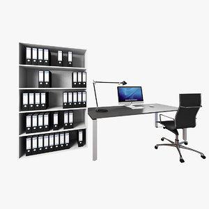 3dsmax office set desk