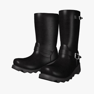motorcycle boots 3d model