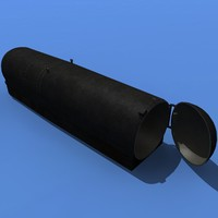 navy dry deck shelter 3d max