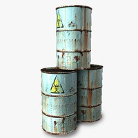 barrel rusty 3d 3ds