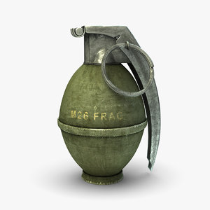 3d m26 hand grenade model