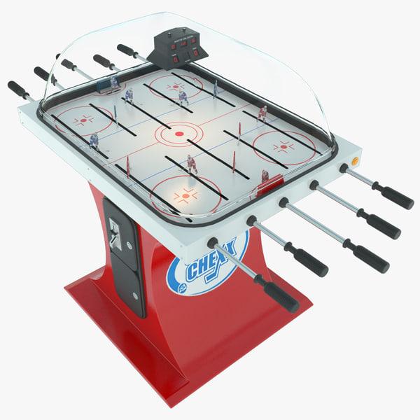 table hockey super chexx 3d model