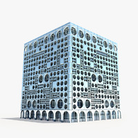 3d modern skyscraper model