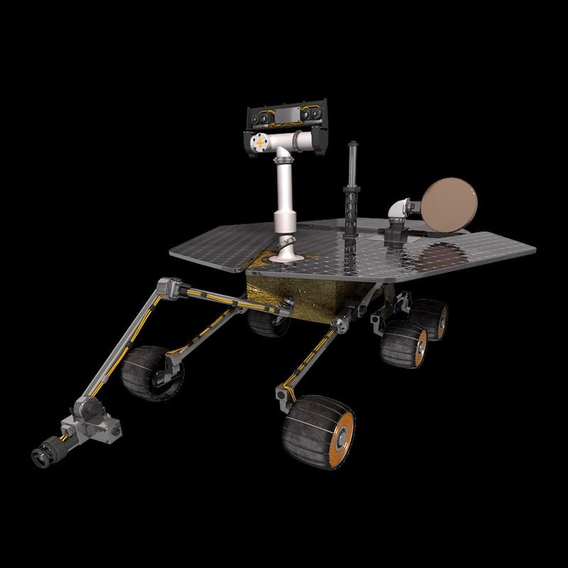 mars rover 3d model