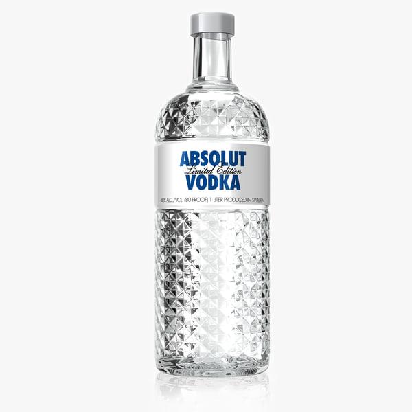 3d model absolut vodka