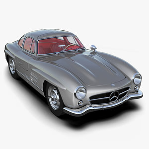 3d model mercedes-benz 300sl