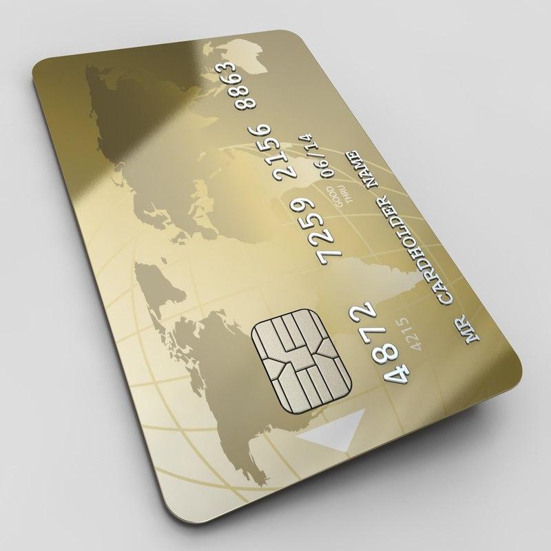 credit card c4d