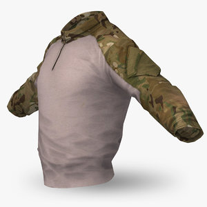 combat shirt ac multicam 3d model