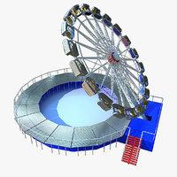 3d model enterprise ride