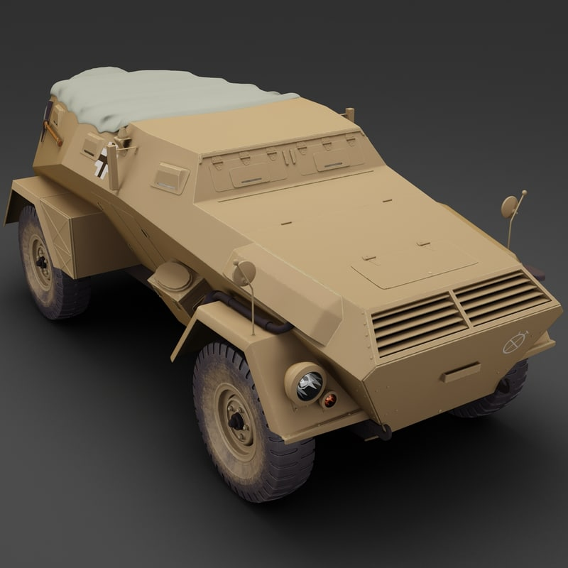 germany wwii armored car 3d 3ds