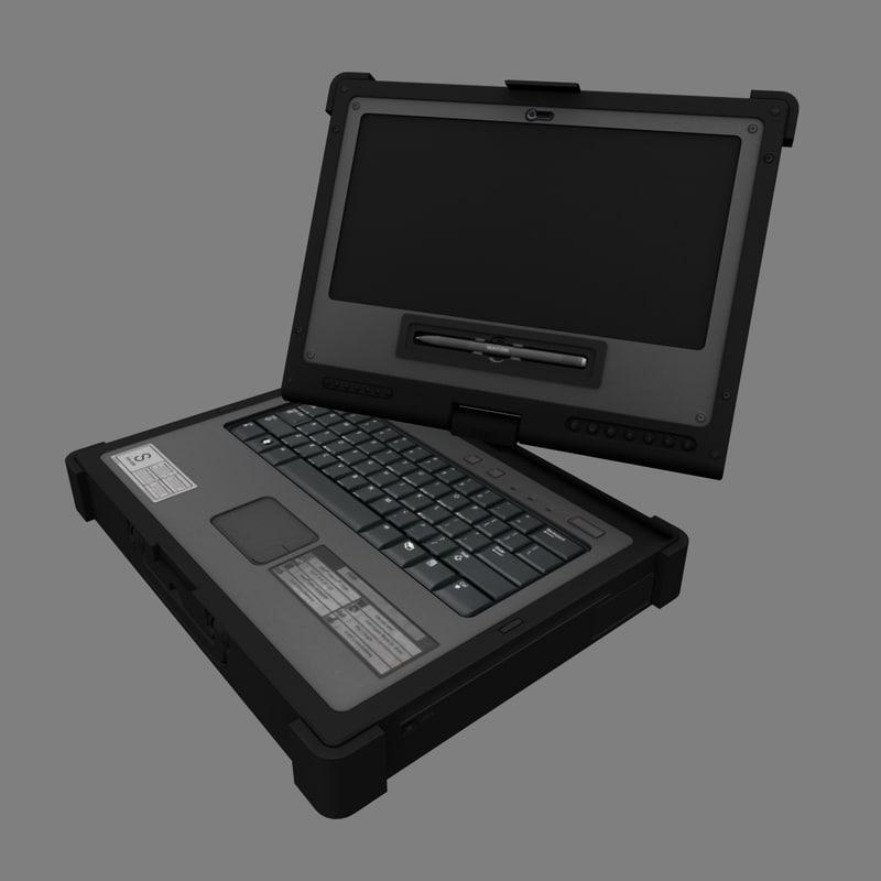 heavy duty laptop 3d obj