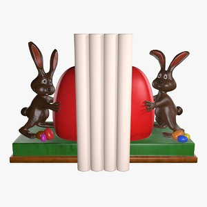 funny bunny book stands 3d x