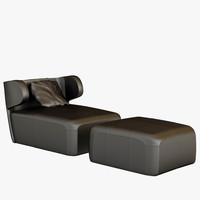 Ceccotti DC100 LoungeChair & FootStool