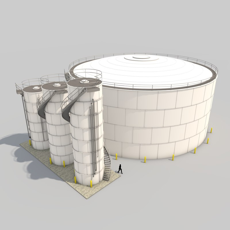 3d model of silo pack