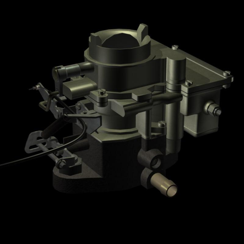 3d single downdraught carburetor
