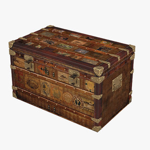 louis vuitton postal trunk obj