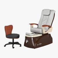 Cleo LX Pedicure Spa Chairs Set