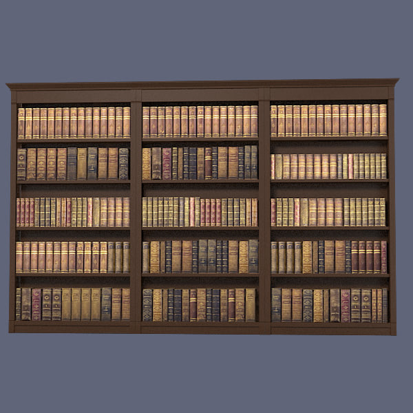 book library 3d max