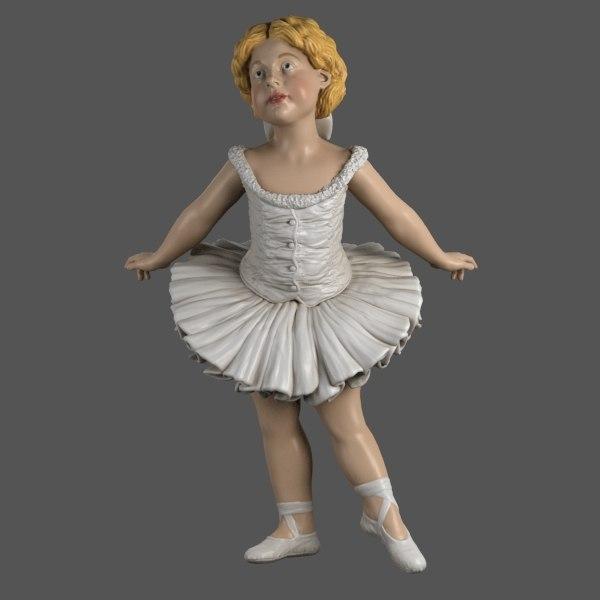 3d ballerina girl