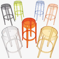 3d model charles ghost stool 4899