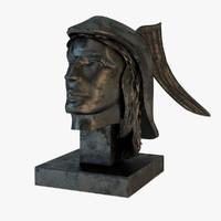 3d model hermes bust statue