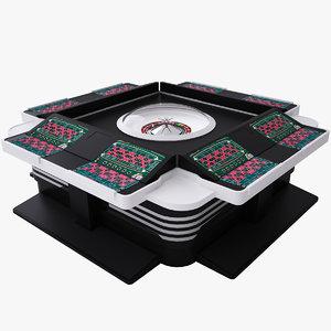 obj electro-mechanical roulette table integra