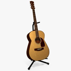 3d model acoustic guitar stand