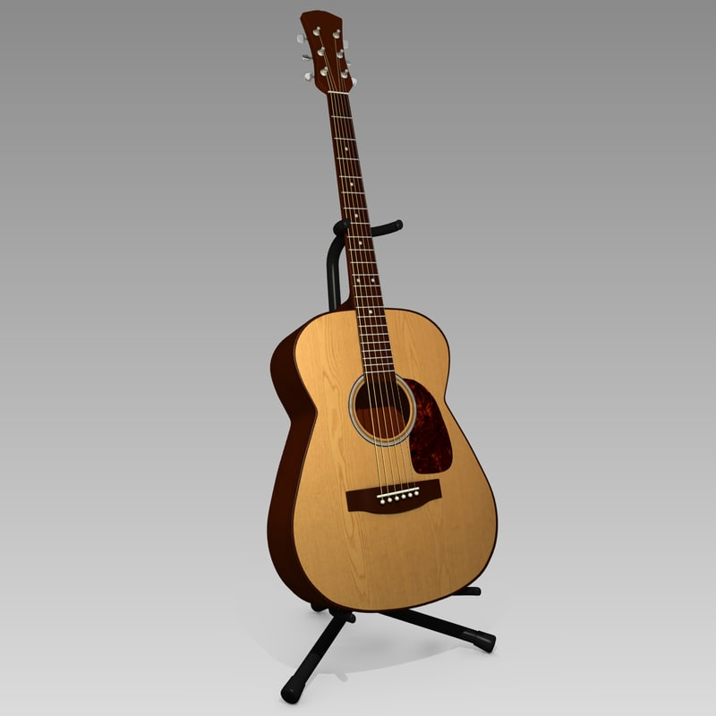 3d model acoustic guitar stand. Black Bedroom Furniture Sets. Home Design Ideas