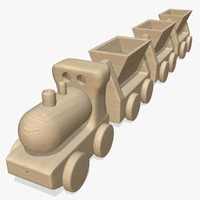 3d wooden toy train