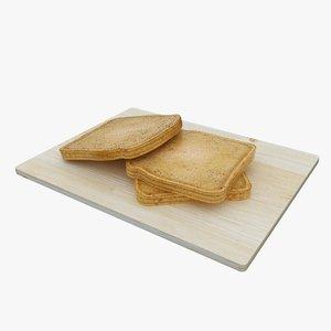 bake bread toast 3d model