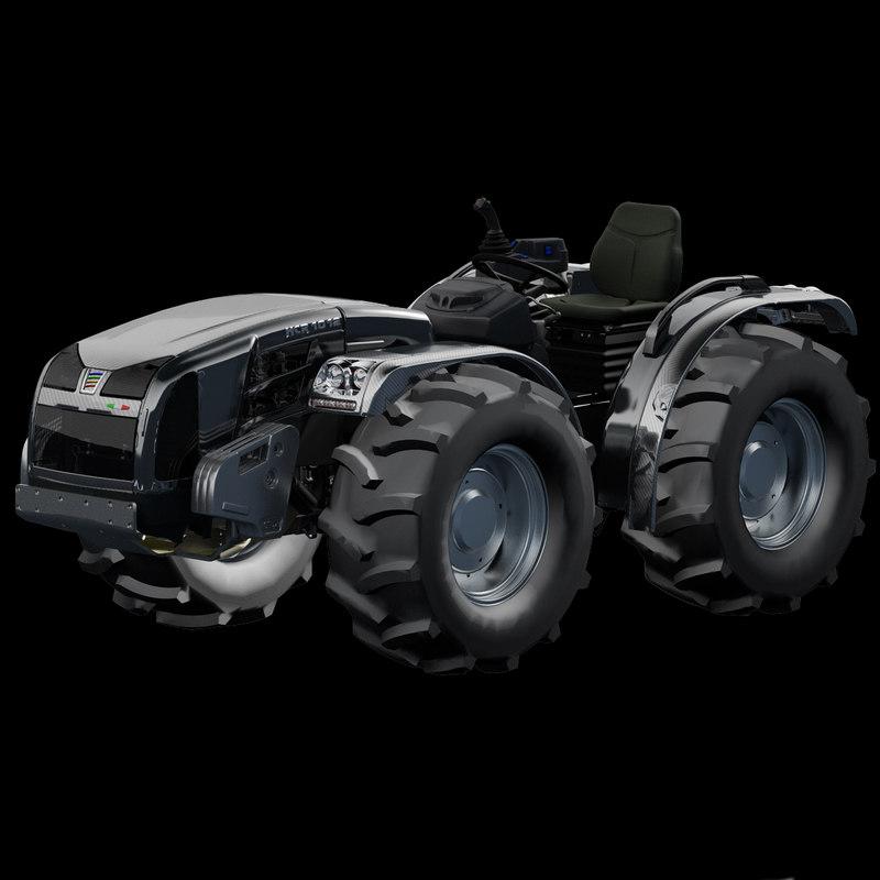 tractor engine diesel 3d model