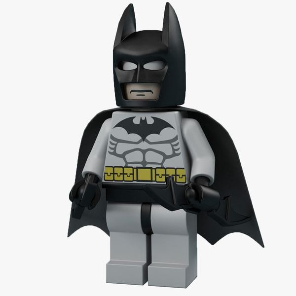 3d lego man batman model