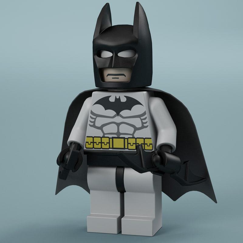 3d lego man batman model
