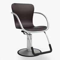 3d model of barber chair