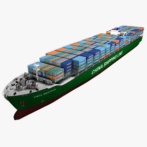 cscl seattle container vessel 3d max