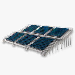 3d grandstand seating model
