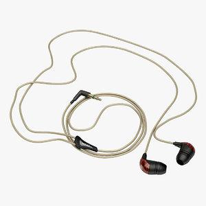3d model headphones sennheiser cx271