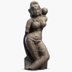 3d max indian statuette india