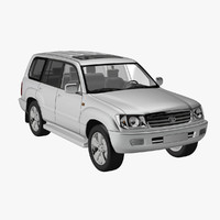 toyota land cruiser 100 3d model