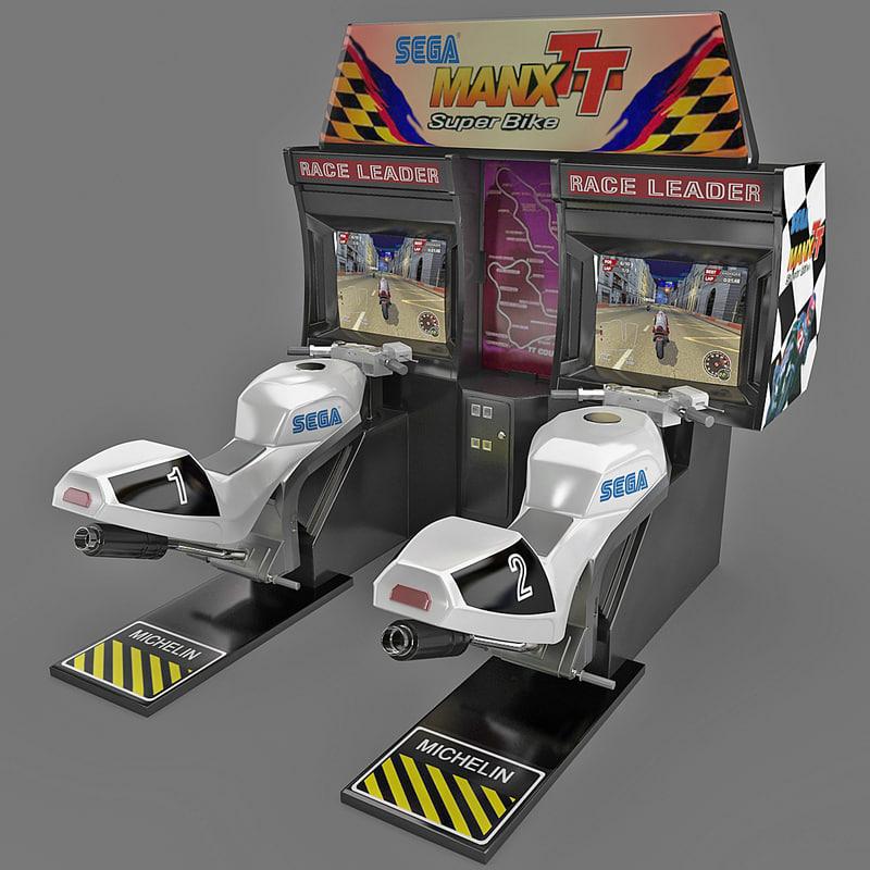 3ds max racing silmuator manx tt