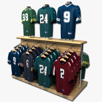 3d model football jersey