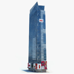 3d model time square tower