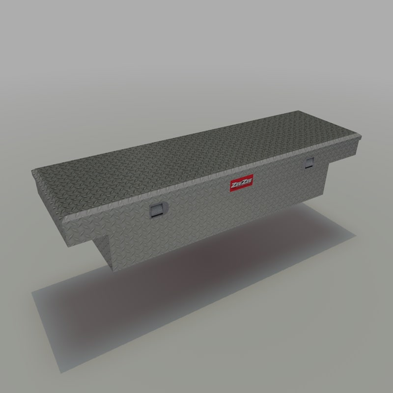 3d diamond plated truck toolbox model